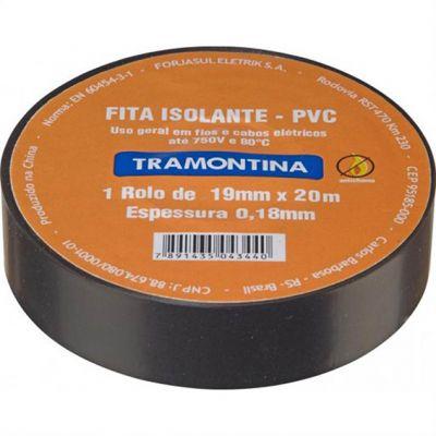 Fita Isolante Pvc 0,18mm 20m Preta Tramontina