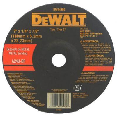 Disco Desbaste Metal 180x6x22,2 Dw44580 Dewalt