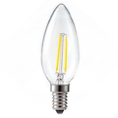 Lampada Led Filamento Vela E27 3w 6500k Ourolux