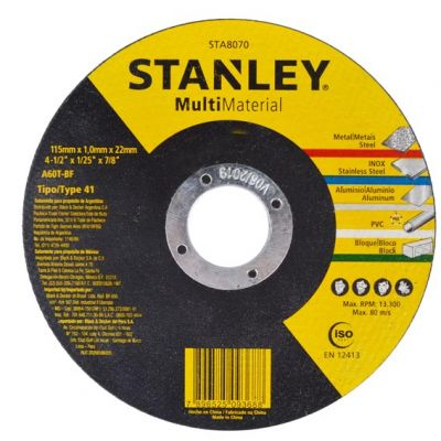 Disco Corte Inox 115x1.6x22 Stanley