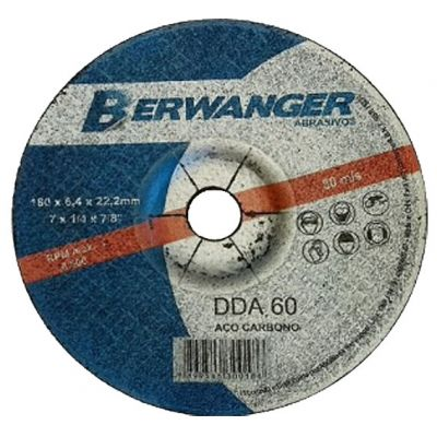 Disco Desbaste 115x6,4x22,2mm Dza 60 Berwanger