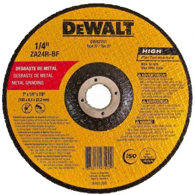 Disco Desbaste Metal 230x6x22 Alta Perf. Dewalt